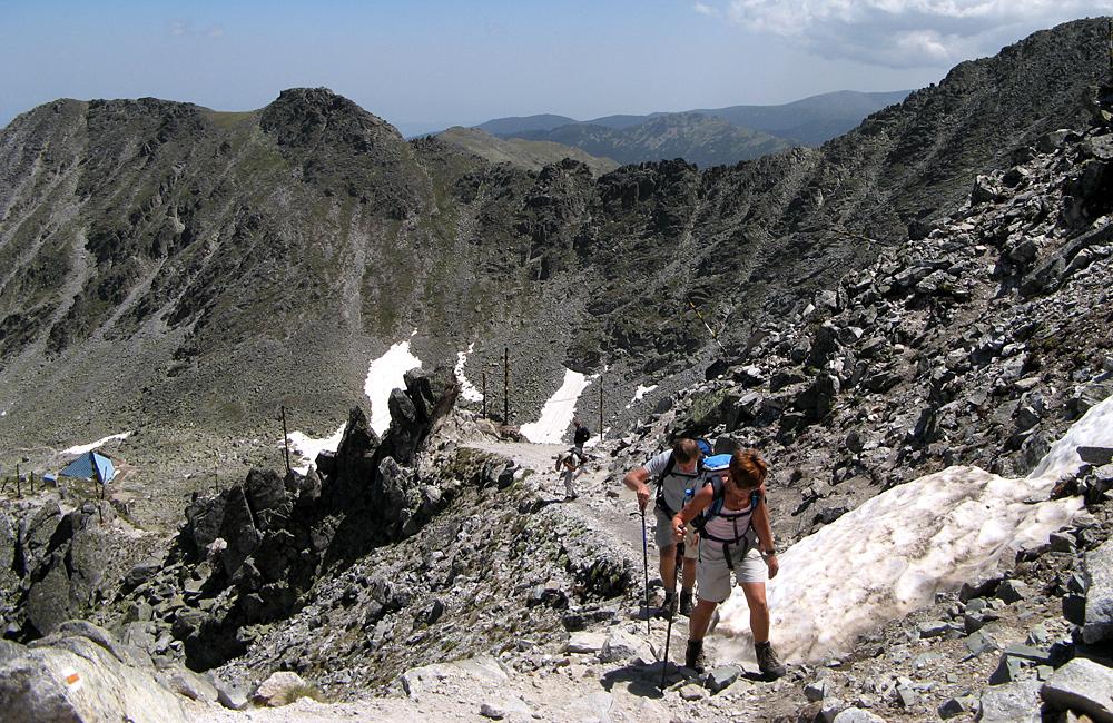 climbing musala summit