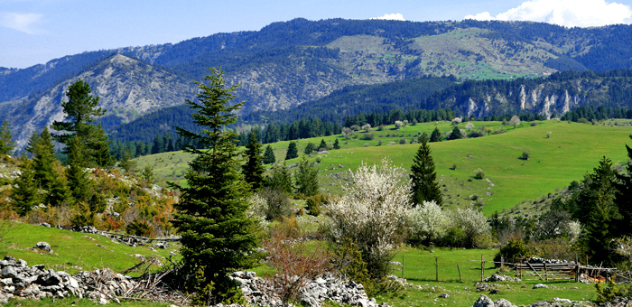 guided walking and hiking tour in the rhodope mountains near trigrad, bulgaria
