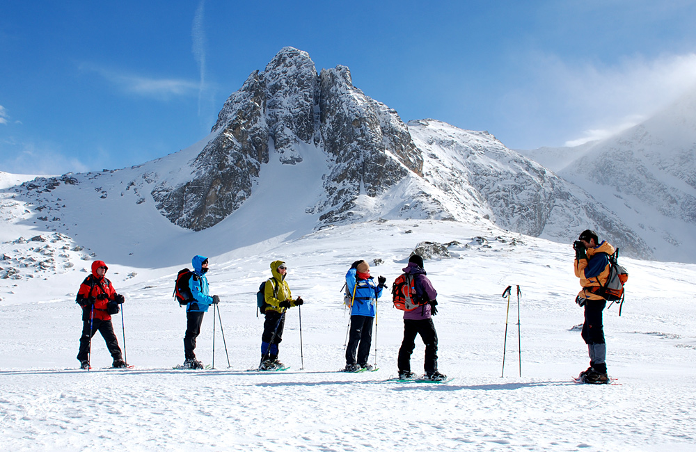 guided snowshoeing tours in bulgaria, rila and pirin