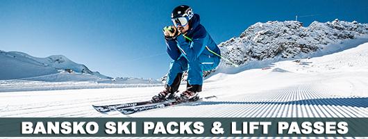 bansko ski packs, lift passes, airport transfers, equipment hire, ski & snowboard schools