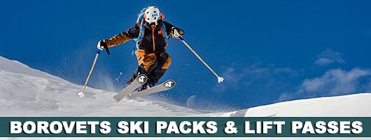 borovets ski packs, lift passes, airport transfers, equipment hire, ski & snowboard sch